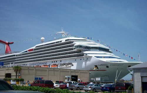 Cruise Ship in Galveston